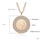Sautoir arbre de vie descriptif dimensions cristaux creux cadeau femme