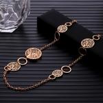Arbre-de-vie-en-or-Multi-pendentif-longue-cha-ne-collier-pour-femmes-creux-cristal-chandail