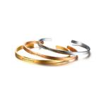bracelet manchette acier personnalisé