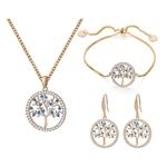 arbre-de-vie-parure-bijoux-en-plaque-or-ensembles-pour-femmes-bleu-CZ-collier-ras-du-cou-Bracelet-boucles-oreilles