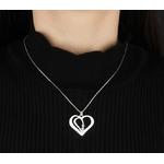 collier coeur deux prenoms et pierres de naissance cristaux zirconium porté