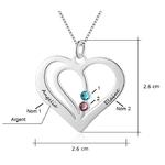 collier coeur deux prenoms et pierres de naissance cristaux zirconium dimensions