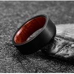 bague bois et tungstène Black présensation