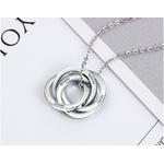 collier personnalisés prénoms avec anneaux enlacés