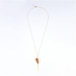 Collier sautoir pendentif en bois tendance et féminin