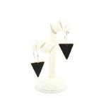 boucles doreilles créoles plaqué or et noir moderne