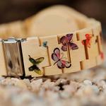 montre en bois butterfly