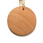 Boucles doreilles disque en bois