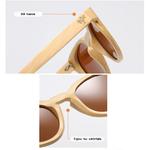 lunettes en bois oeil de chat bambou détail