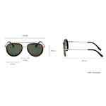 lunettes en bois aviator wood dimensions