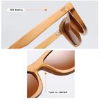 Lunettes bois bambou intemporel details