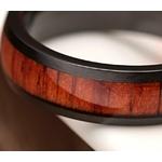 bague en bois et titane noir 6 mm homme ou femme arbrobijoux