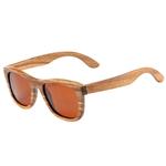 lunettes en bois intemporel zebra brun