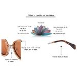 lunettes soleil en bois vintage details