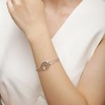 bracelet motif arbre branches en argent 925 bicolore