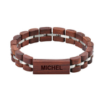bracelet en bois homme ou femme personnalisé arbrobijoux