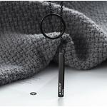 collier personnalisé destinee Y cercle barre couleur noir
