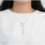 collier personnalisé destinee Y cercle barre porté