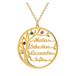 collier arbre de vie personnalisé prénom pierre de naissance