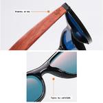 lunette en bois wayfarer miroir
