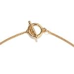 Collier chaîne plaqué or avec fermoir original