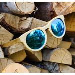lunettes de soleil en bois femme oeil de chat arbrobijoux