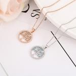 collier arbre de vie strass pierre bleu plaqué or rose