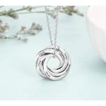 collier personnalise bagues russe anneaux enlacés 6 prénoms ou texte arbrobijoux