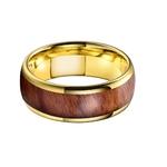 Homme-or-jaune-tungstane-bague-alliance-de-mariage-avec-incrustation-de-bois-veritable