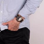 montre en bois chronographe aviateur portee arbrobijoux