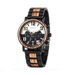 montre bois chronographe aviateur personnalisable