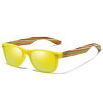 lunettes en bois enfant jaune
