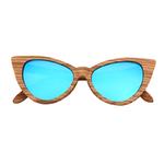 lunettes de soleil en bois oeil de chat femme arbrobijoux