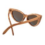 lunettes de soleil en bois cat eyes femme arbrobijoux