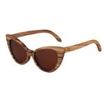 lunettes en bois cat eyes oeil de chat zebre brun femme arbrobijoux