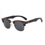 lunettes en bois clubmaster ebene gris