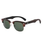 lunettes en bois clubmaster ebene vert