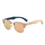 lunettes en bois clubmaster erable rose