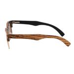 lunettes en bois clubmaster vue latérale
