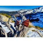 noeud papillon bois au ski