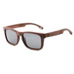 lunettes en bois modele noyer verres gris