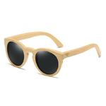 lunettes en bois oeil de chat noir