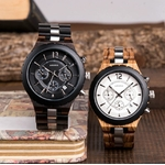 montre bois chronographe - Black&White 4