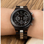 montre bois chronographe - Black&White 3