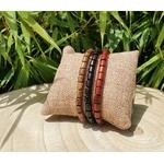 bracelet tibétain en bois spirit perles oblongues