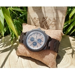 montre en bois homme chronographe mouvement quartz carlit