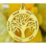 collier arbre de vie plaqué or pas cher personnalisé 6 prenoms
