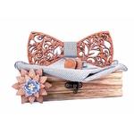 noeud papillon bois arabesque decoupe laser motifs