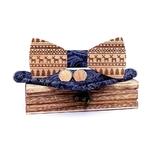 noeud papillon en bois Noël bleu