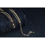 collier triple chaîne avec longueur réglable
